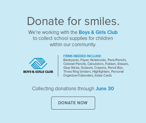 Crestline Dental Group and Orthodontics - Boys & Girls Club Supply Drive
